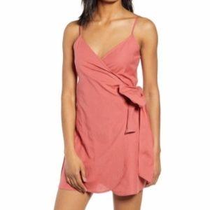 NWT BILLABONG linen wrap dress